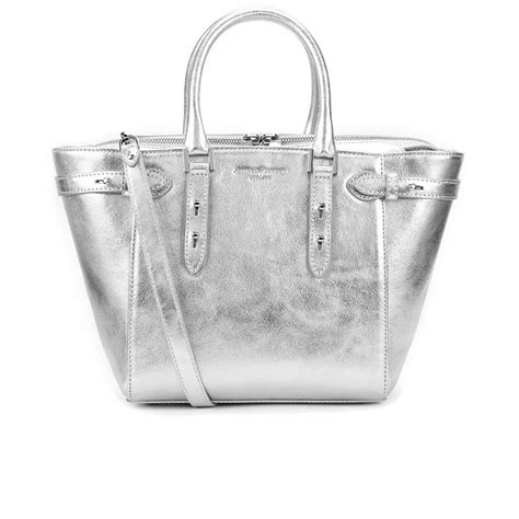 Loyd Maish Metallic Tote 2 by Aspinal Of S Marylebone Mini Tote Bag