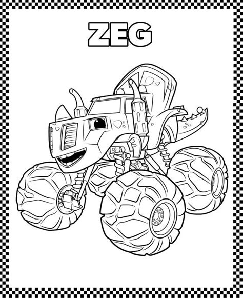 Monster Truck Coloring Pages Coloring Rocks Blaze Truck Boy Coloring Page