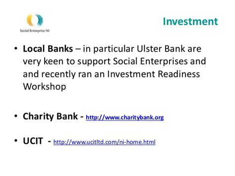 ulster bank investments social enterprise what is it and what to consider
