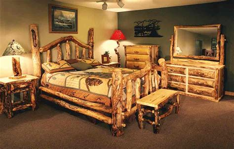 Log Furniture Reclaimed Wood Furniture Cabin Decor Cabin Bedroom Furniture