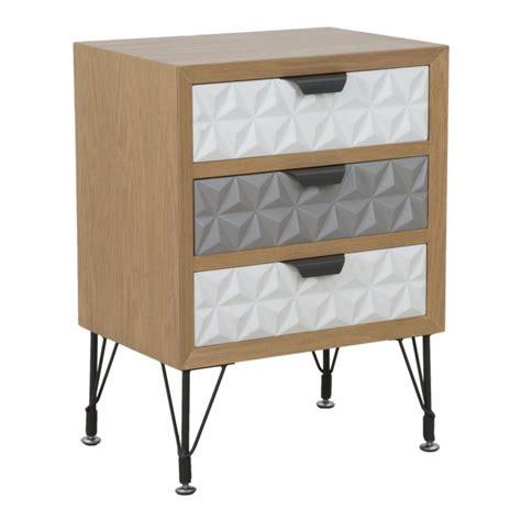 comodini vintage comodino vintage legno 3 cassetti colore grigio e bianco