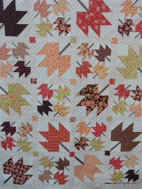 Maple Leaf Quilt Pattern by Maple Sky New Quilt Pattern A Quilting A Quilt