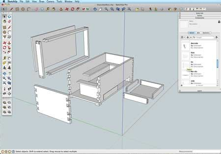 google sketchup woodworking dovetails tutorial build wooden sketchup woodworkers plans download snorkel