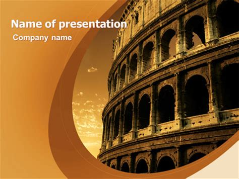Powerpoint Themes Rome | colosseum presentation template for powerpoint and keynote