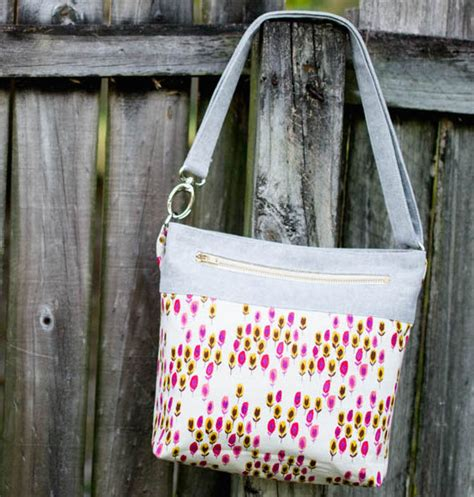 Handmade Bag Tutorial - japanese knock tote bag free sewing tutorial