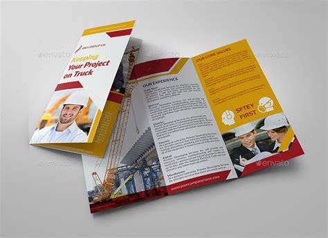construction business tri fold brochure vol 3 by