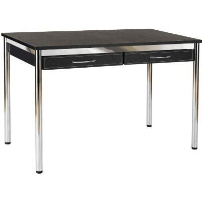 Black And Chrome Computer Desk Ledah Leather Desk Black Chrome Desks