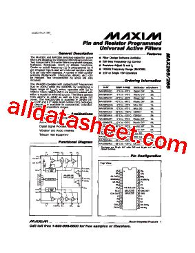 maxim resistor network max265 datasheet pdf maxim integrated products
