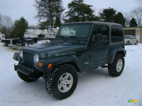 2003 green jeep 2003 shale green metallic jeep wrangler rubicon 4x4
