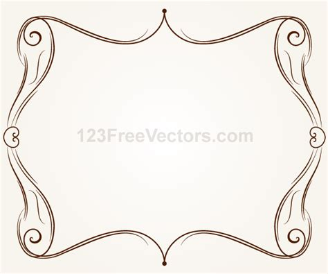 cornici illustrator vector ornament frame illustration by 123freevectors on