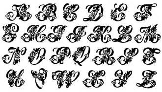 vintage clip beautiful monogram alphabet the