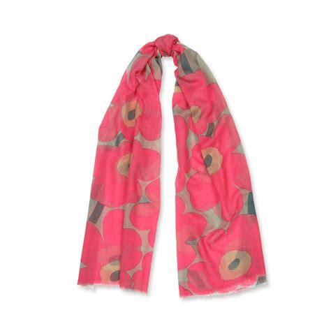 marimekko unikko pink beige fiore scarf marimekko bags