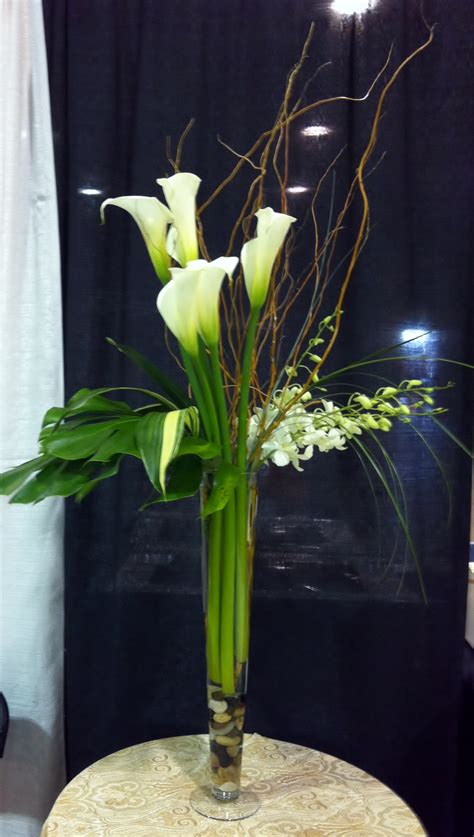 Calla Orchid Tall Centerpiece Scentsational Florals Calla Table Centerpieces