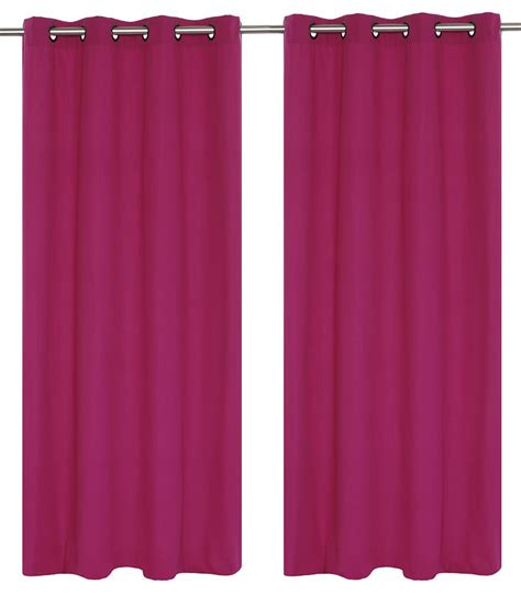 magenta curtains lj home fashions karma faux cotton 54x95 inch grommet 2