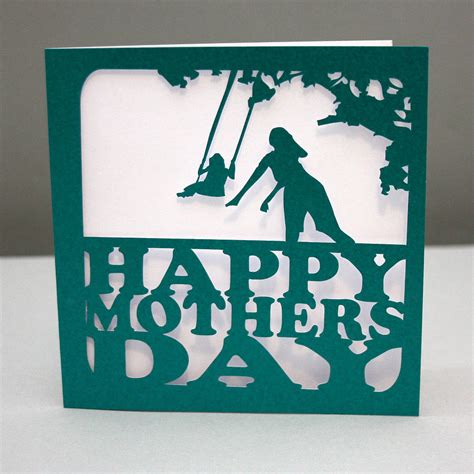 swing cut cards mother s day swing cut out card by whole in the middle