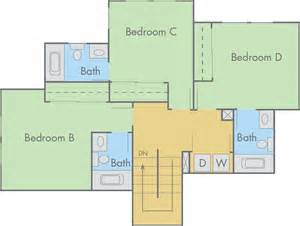 4 bedroom townhouse floor plans the lexington floor plan 4 bedroom 4 bathroom townhouse
