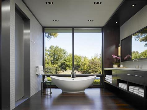 relaxing contemporary master bathroom by lagrange