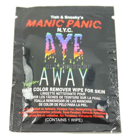 how to remove color from skin manic panic hair dye remover wipe remove hair colour from