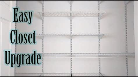 closetmaid youtube how to install closetmaid shelftrack youtube