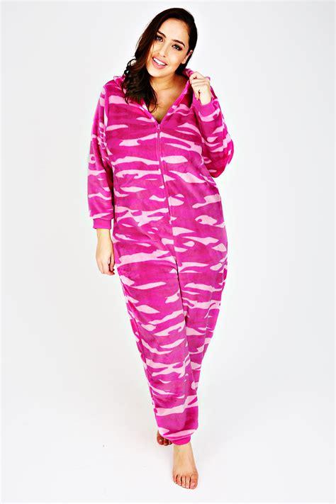 printed onesie pink printed fleece onesie with novelty cat plus size