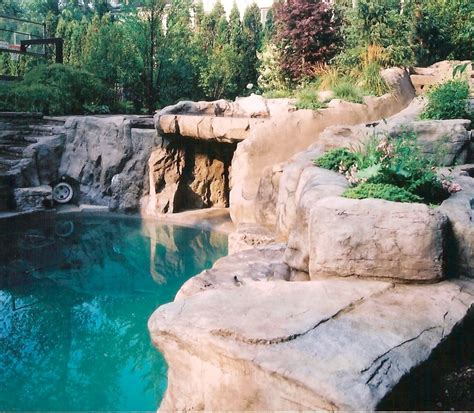 rock waterfalls for pools artificial rock around the pool rockscapes artificial
