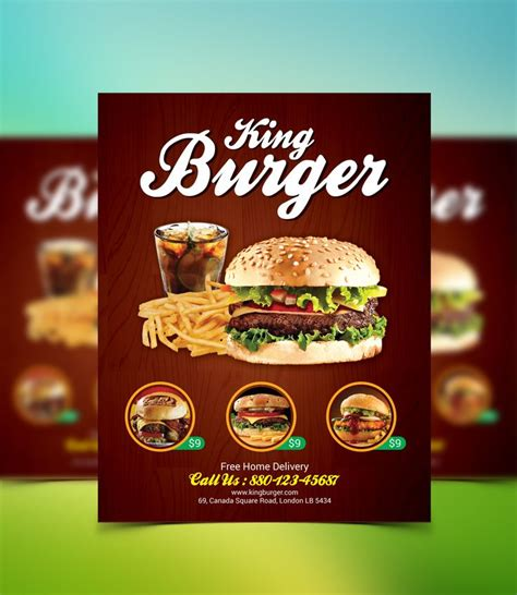 template flyer burger king burger flyer flyers burgers and king