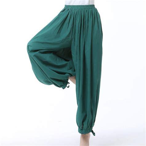 comfortable women s pants bloomers cotton summer tai chi kung fu dancing pants women