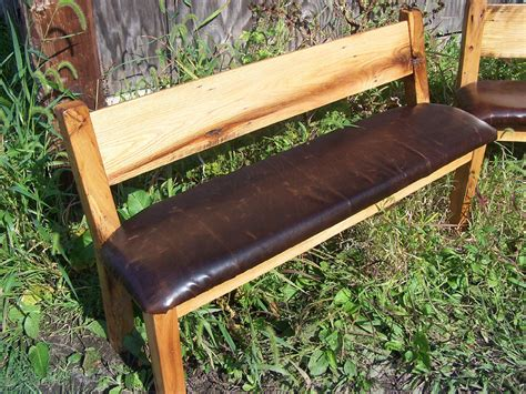 farmhouse bench with back custom reclaimed wood farm bench with relaxed back and leather