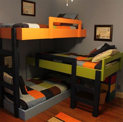 awesome bunk beds awesome triple bunk beds barnorama
