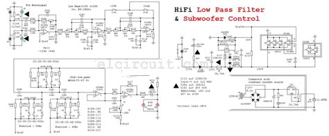 high pass filter subwoofer high quality subwoofer low pass filter electronic circuit