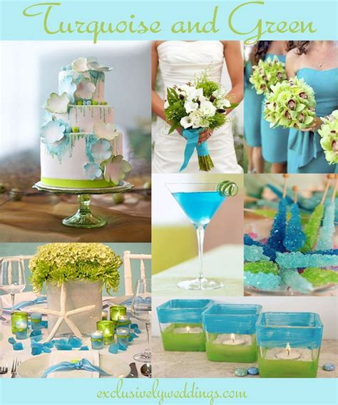 perfect color combinations turquoise wedding color seven perfect combinations