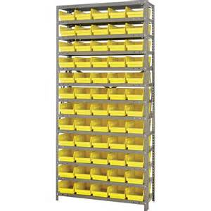 storage shelves with bins quantum storage single side metal shelving unit with 60