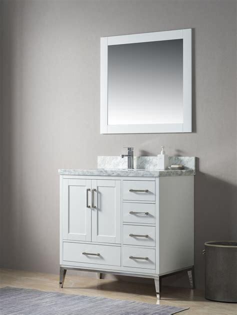 manhattan   single sink navy blue bathtroom vanity