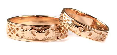 claddagh ring set 9 ct yellow gold claddagh wedding ring set celtic