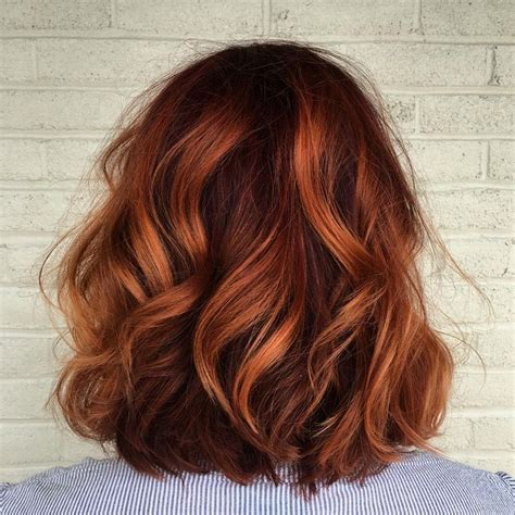 shoulder grazing hair 25 best ideas about copper balayage on pinterest