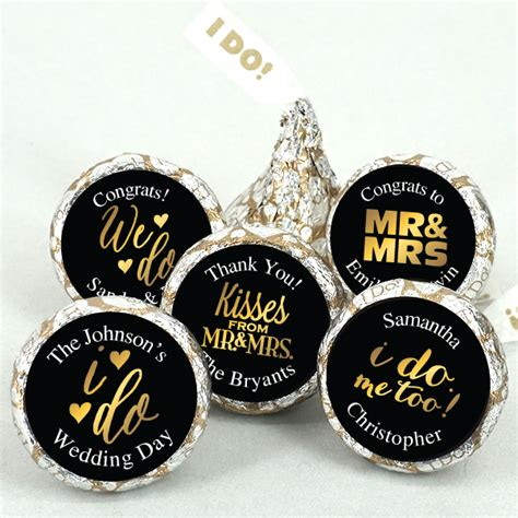 Wedding Favors Hershey Kisses by Gold Foil Personalized Hershey Kisses