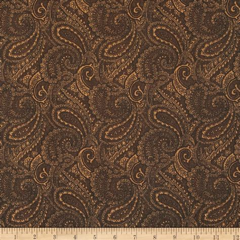 brown pattern fabric paisley 108 quot wide back brown discount designer fabric
