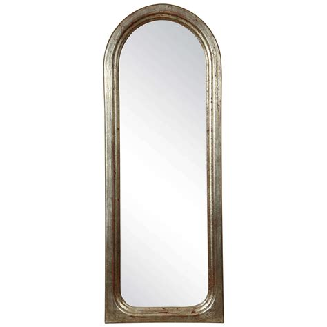 small decorative arched mirror with a silvered frame at 1stdibs