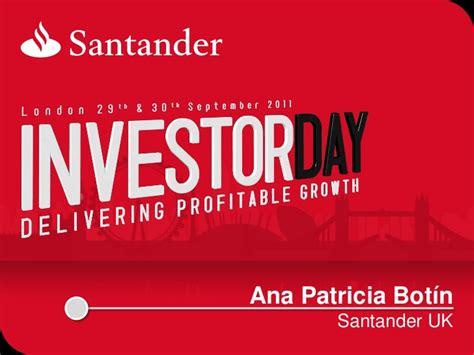santander bank santander platz 1 santander uk santander investor day 2011