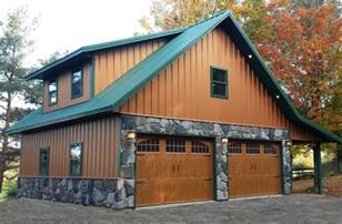 Garage Homes Real Metal Hobby Garage W Stone Wainscot 6 Pictures