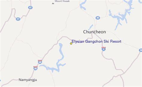 elysian resort map elysian gangchon ski resort ski resort guide location map