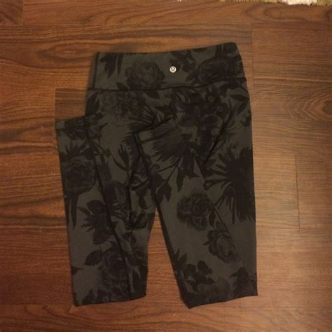 lululemon patterned leggings 58 off lululemon athletica other lululemon floral print