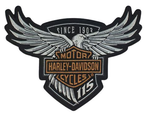 Patches Badges Gambar Makanan Lucu Stickers For Clothes harley davidson 115th anniversary eagle emblem patch large 8 x 6 limited edition ebay