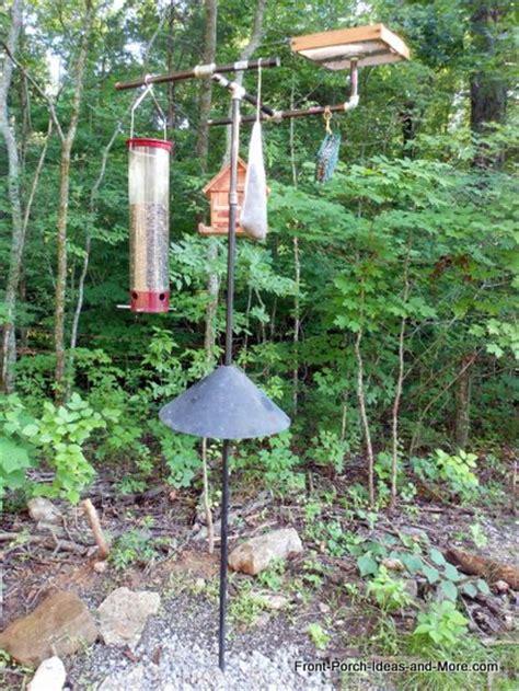 wild bird feeding station backyard bird feeding front