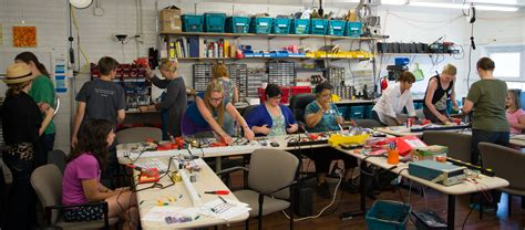 womens electronics workshop circuit building  august