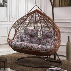 hanging basket chair wicker swing cradle rocking indoor