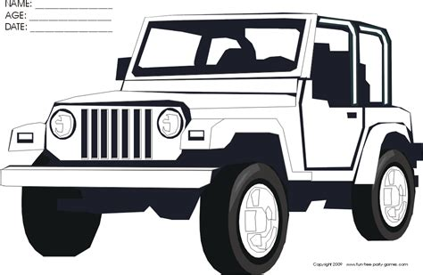 jeep rubicon coloring pages jeep coloring pages to download and print for free
