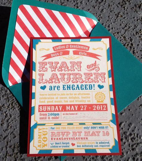 circus wedding invitations engagement invitations circus theme 3 25 via