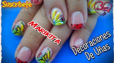 imagenes de uñas decoradas girasoles lindo decorado de u 241 as con una hermosa mariquita y un