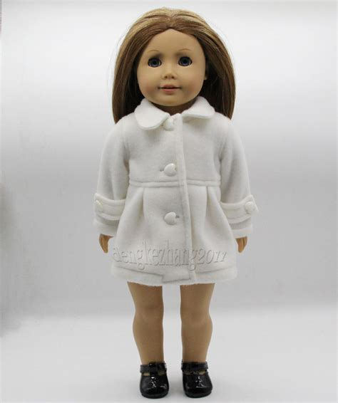 American Handmade Doll Clothes - new handmade white doll clothes coat fits 18 quot american